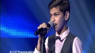 أيمن أمين من فلسطين + آراء المدربين|The voice kids
