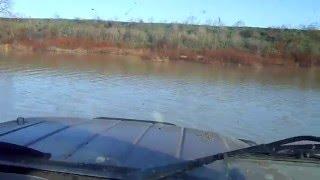 Б.У диски на УАЗ и общая суета УАЗ преодоление водных преград проверка уаз на воде  нырнул в воду