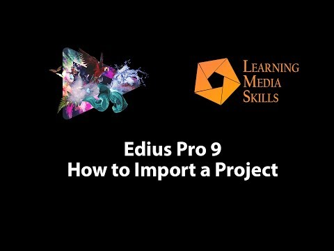 Edius 9: How to Import a Project