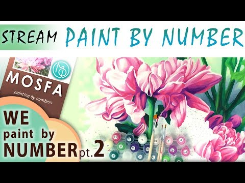 Paint by number! FREESTYLE BLEND pt.2 DIY painting is EASY way to create your own masterpiece! MOSFA