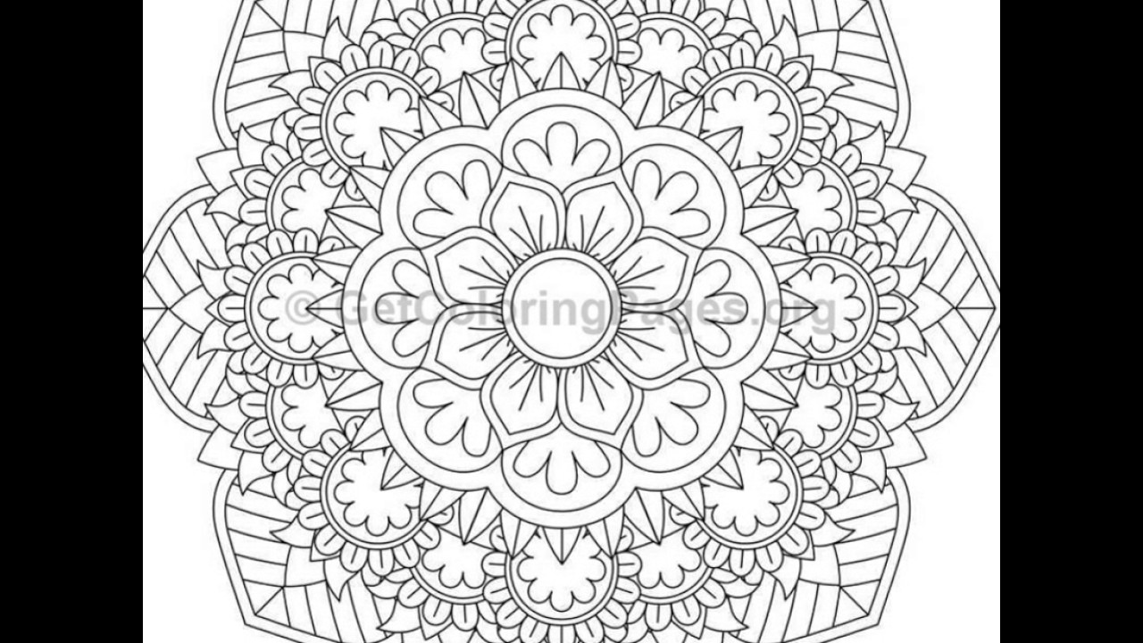 - Mandala Coloring Pages Online Advanced Mandala Coloring Pages