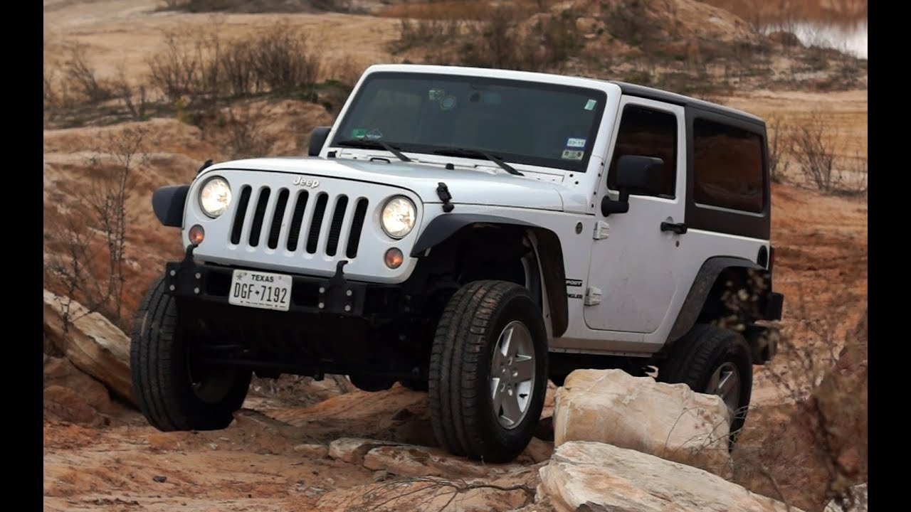 Jeep Jk Tires >> Jeep Jk Tackling Some Small Obstacles With Stock Tires Youtube