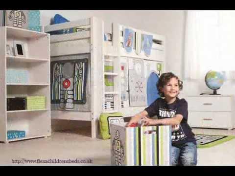 Flexa Kids Bed.Childrens Beds Bunk Beds For Play And Development Flexa Youtube