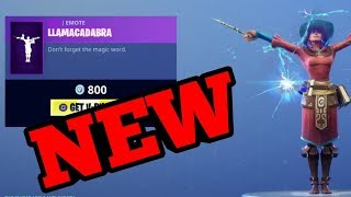 NEW LLAMACADABRA EMOTE NEW CASTOR & ELMIRA SKINS FORTNITE ITEM SHOP UPDATE (Fortnite Battle Royale)