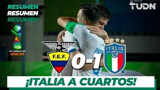 Resumen y goles | Ecuador 0 - 1 Italia | Mundial Brasil Sub-17 - Octavos | TUDN