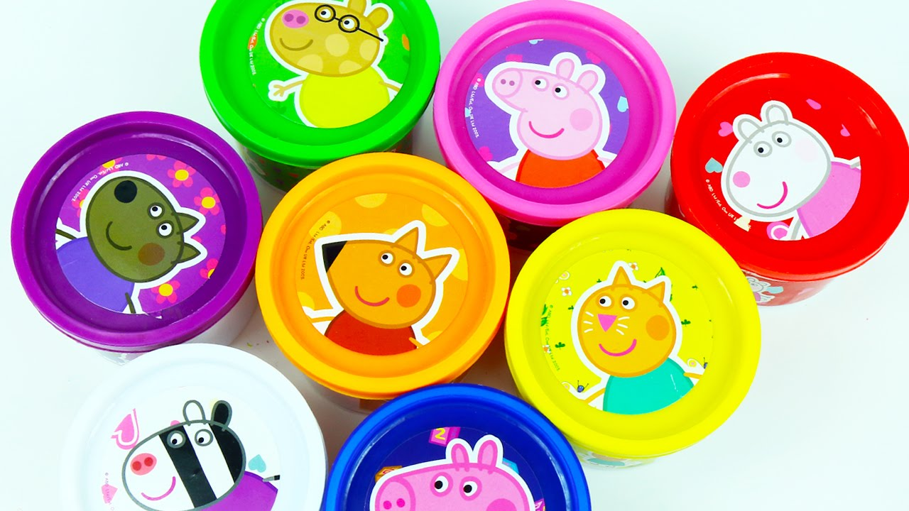 Learn Colors With Peppa Pig Cans Play Doh Surprise