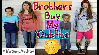 One of AllAroundAudrey's most viewed videos: BROTHERS BUY SISTER'S OUTFITS! SHOPPING CHALLENGE 2017 / AllAroundAudrey