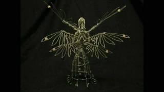 Rose Seraph Wire Sculpture