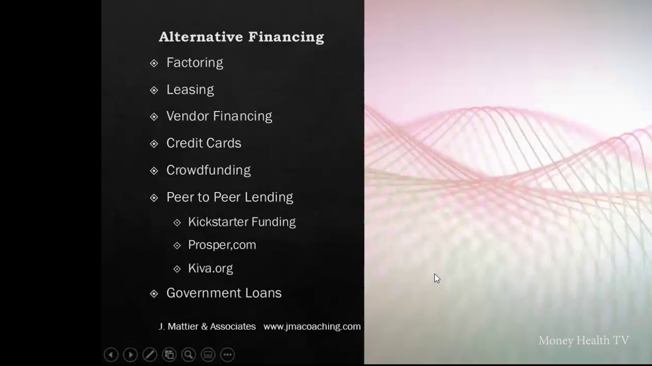 MONEY HEALTH TV - Alternative Financing FOR COVID-19