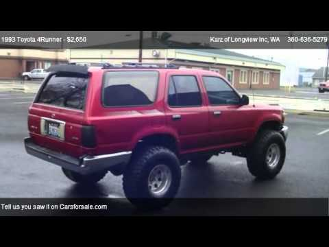 1993 Toyota 4runner 4x4 Lifted For Sale In Longview Wa