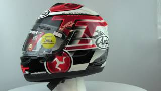 arai corsair x isle of man limited edition mens motorcycle helmets 360 degree spin