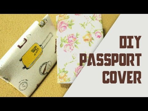 f83607b68047 How to make easy Passport Cover DIY