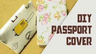 How to make easy Passport Cover DIY