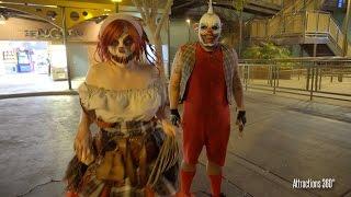 Clowns Scare Zone - CarnEvil at Knott's Scary Farm 2016 - Halloween