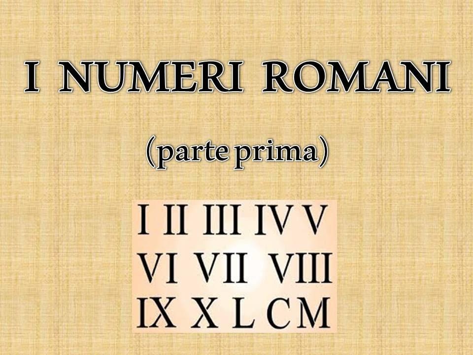 Populaire I numeri romani (1 di 5) - YouTube JR67