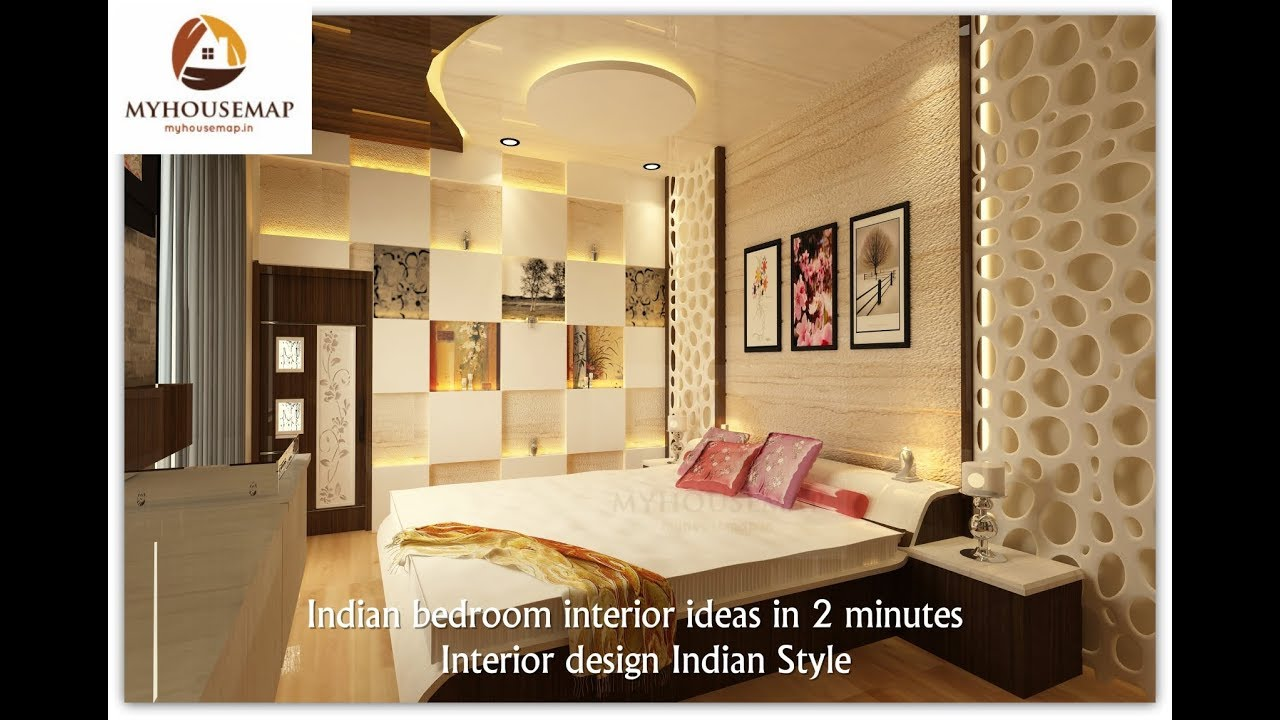 Indian bedroom interior ideas in 2 minutes | Interior design Indian ...