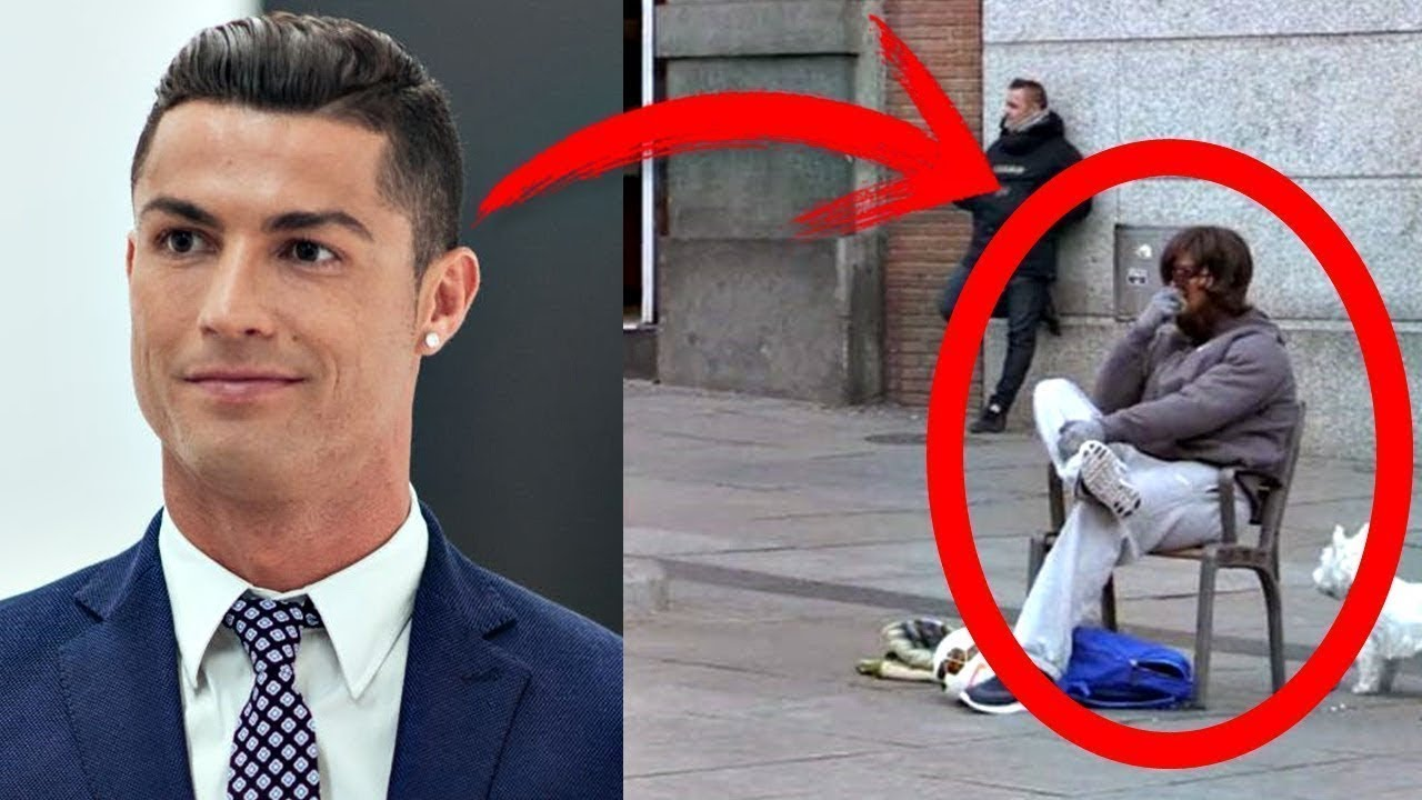 THAT'S WHY RONALDO DRESSED UP as a HOMELESS!
