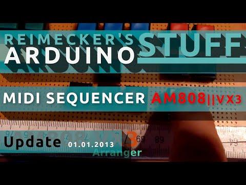 Arduino Midi Sequencer AM808 VX3 - New Buttons  (01.01.2013)