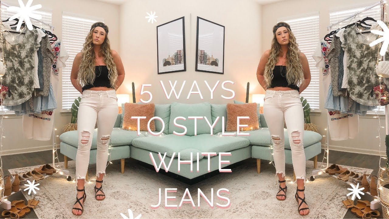 SUMMER OUTFIT IDEAS WITH WHITE JEANS! LOOKBOOK 2019 | Perfect Knot 5