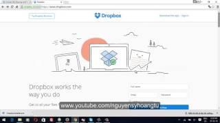 Hướng Dẫn Sử Dụng Dropbox.com