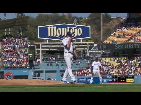 August 07, 2016-Boston Red Sox vs. Los Angeles Dodgers