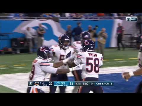 In honor of the Bears playing the Lions on Thanksgiving again, here is Eddie Jackson taking an interception to the house on Thanksgiving 2019.