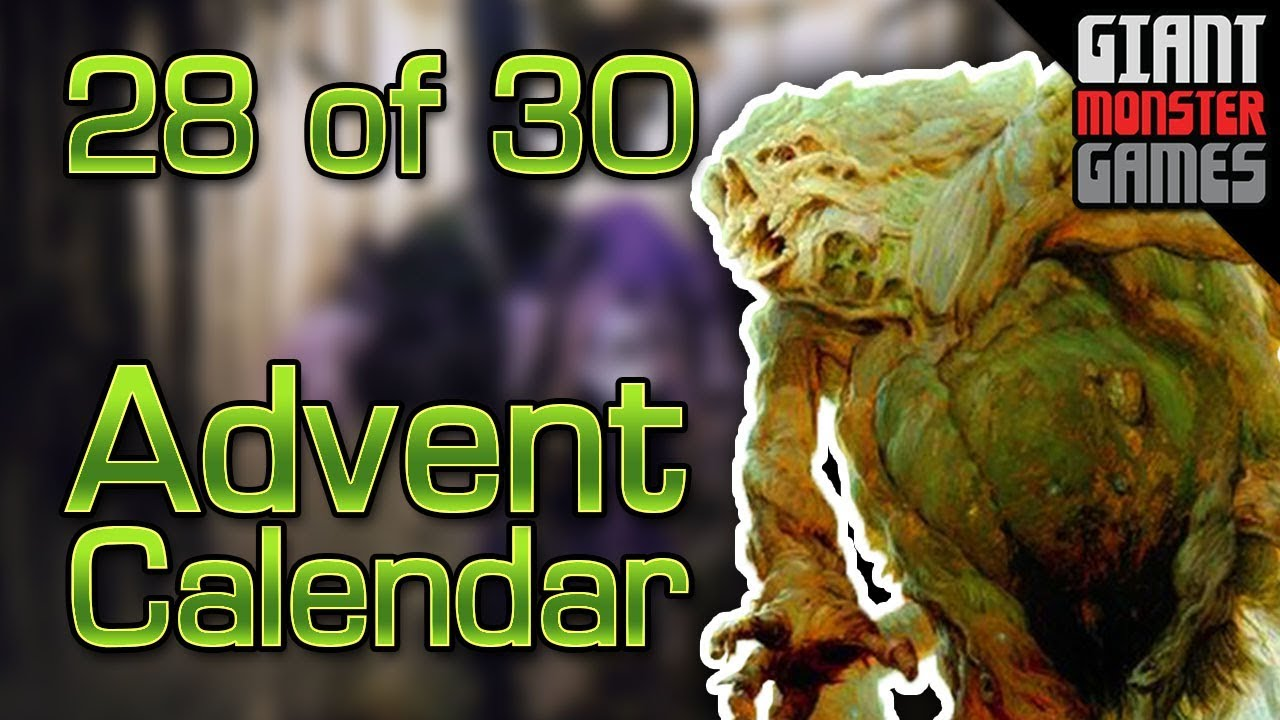 Giant Monster Advent Calendar 2017 Deck 28 Of 30 Youtube