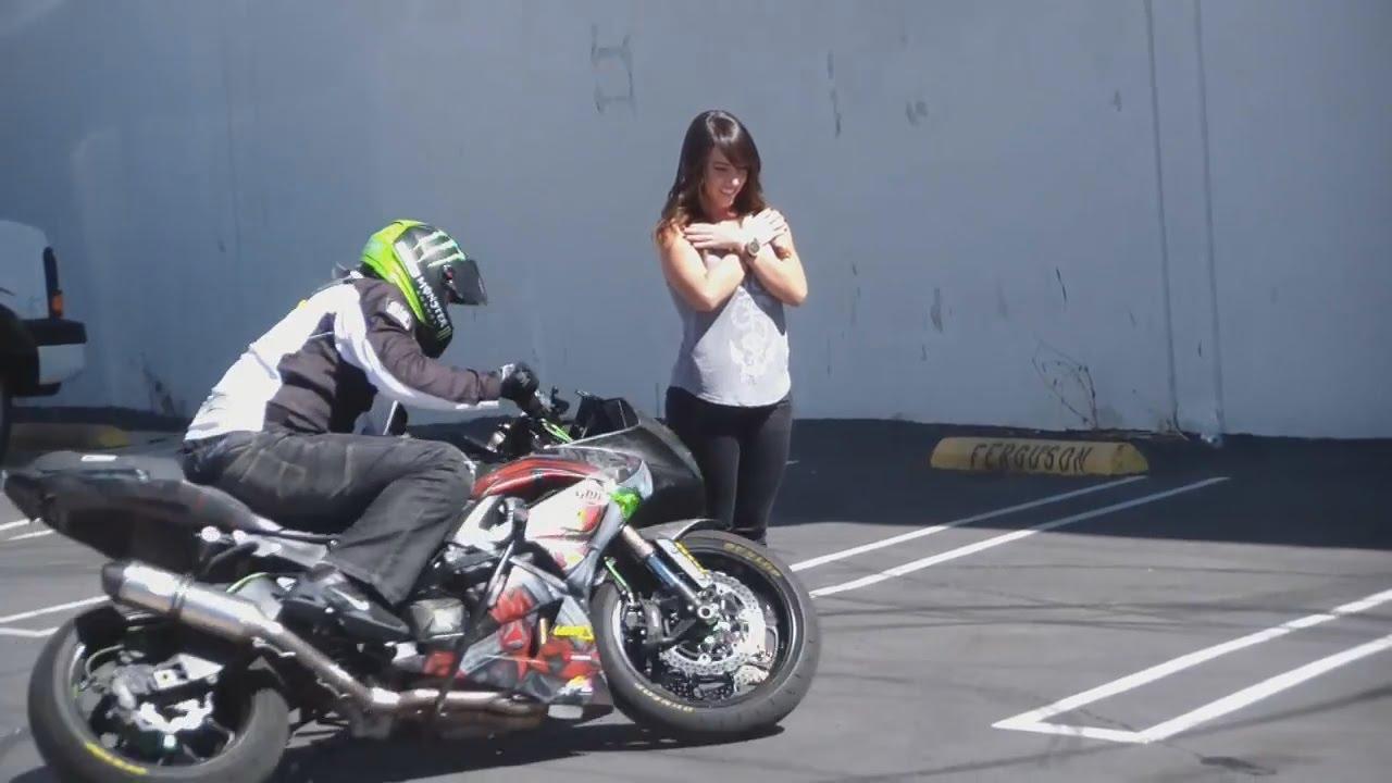 знакомства с девушкой на мотоцикле