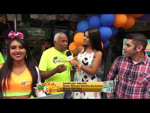 Marcelo dos Santos,  de Cubatão, levou 15 Mil Reais pra casa