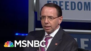 Is Rosenstein Allowing President Trump To Compromise The DoJ With Requests? | Rachel Maddow | MSNBC thumbnail