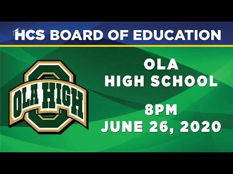 2020 Ola High School Commencement Ceremony