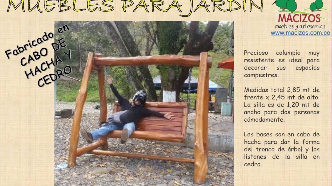 Portones en madera y muebles para jardin en villavicencio for Muebles de jardin con tarimas