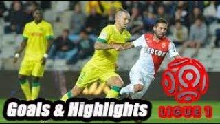 Nantes vs Monaco - Goals & Highlights - Ligue 1 18-19
