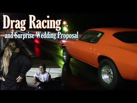 Drag Racing and Surprise Wedding Proposal at Bonne Terre Drag Strip
