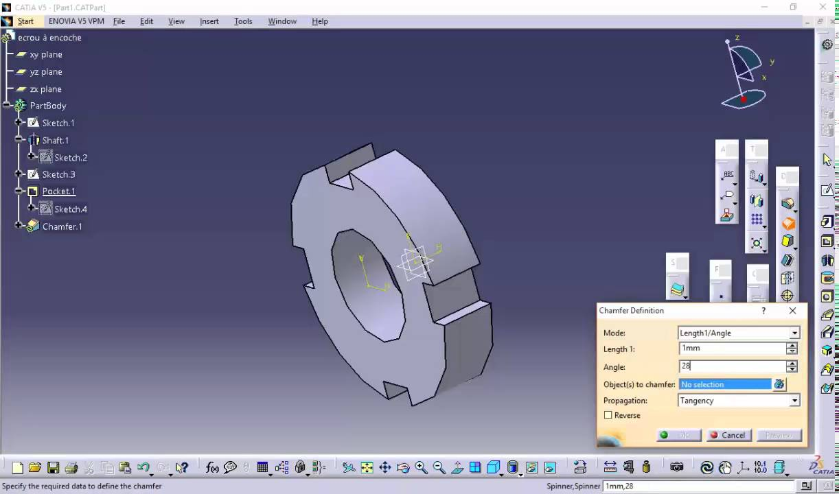 catia v5 lock nut km and library tutorial youtube rh youtube com Ford Wiring Harness Kits Automotive Wiring Harness