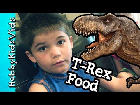 T-Rex For Food HobbyPig Jurassic World App Lunch For HobbyDad by HobbyKidsVids