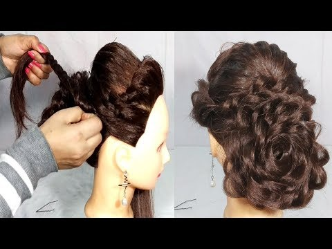 A Simple Easy But Stylish Bun Hairstyle For Party Weddings