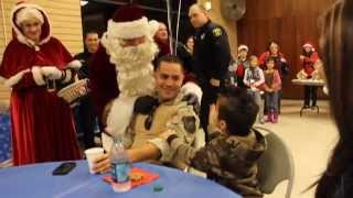Sheriff Adam Christianson Welcomes Santa Claus To Stanislaus County