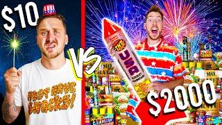 $10 VS $2,000 FIREWORKS! *Budget Challenge*