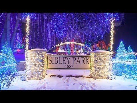 Sibley Park - Kiwanis Holiday Lights - YouTube