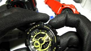 Casio G-Shock GA-110BG (fake) review and set up, настройка и обзор копии