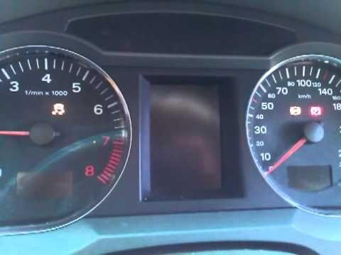 Audi A6 2006 Cold Start Brake Fault