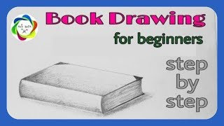 How to Draw a Book for beginners || Book kaise banayen ||  Book drawing || Kitab kaise bnayen ||
