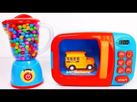 Thumbnail: Learn Colors with Vehicles for Kids Microwave and Blender