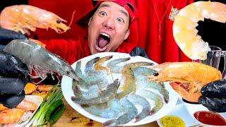 살아움직이는 생새우 먹방 혼술 먹방 훈련 shrimp …