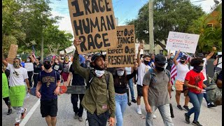 Third straight day of protests in downtown Miami