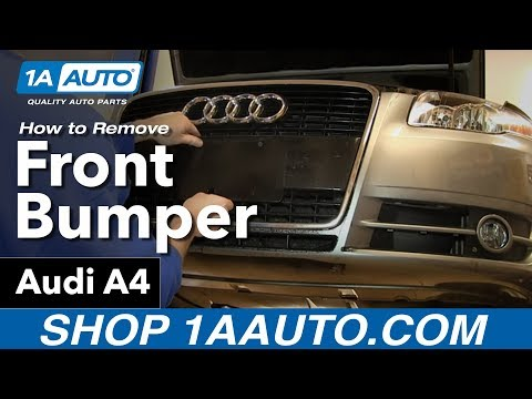 How To Remove Front Bumper Cover Audi A4 2005-07