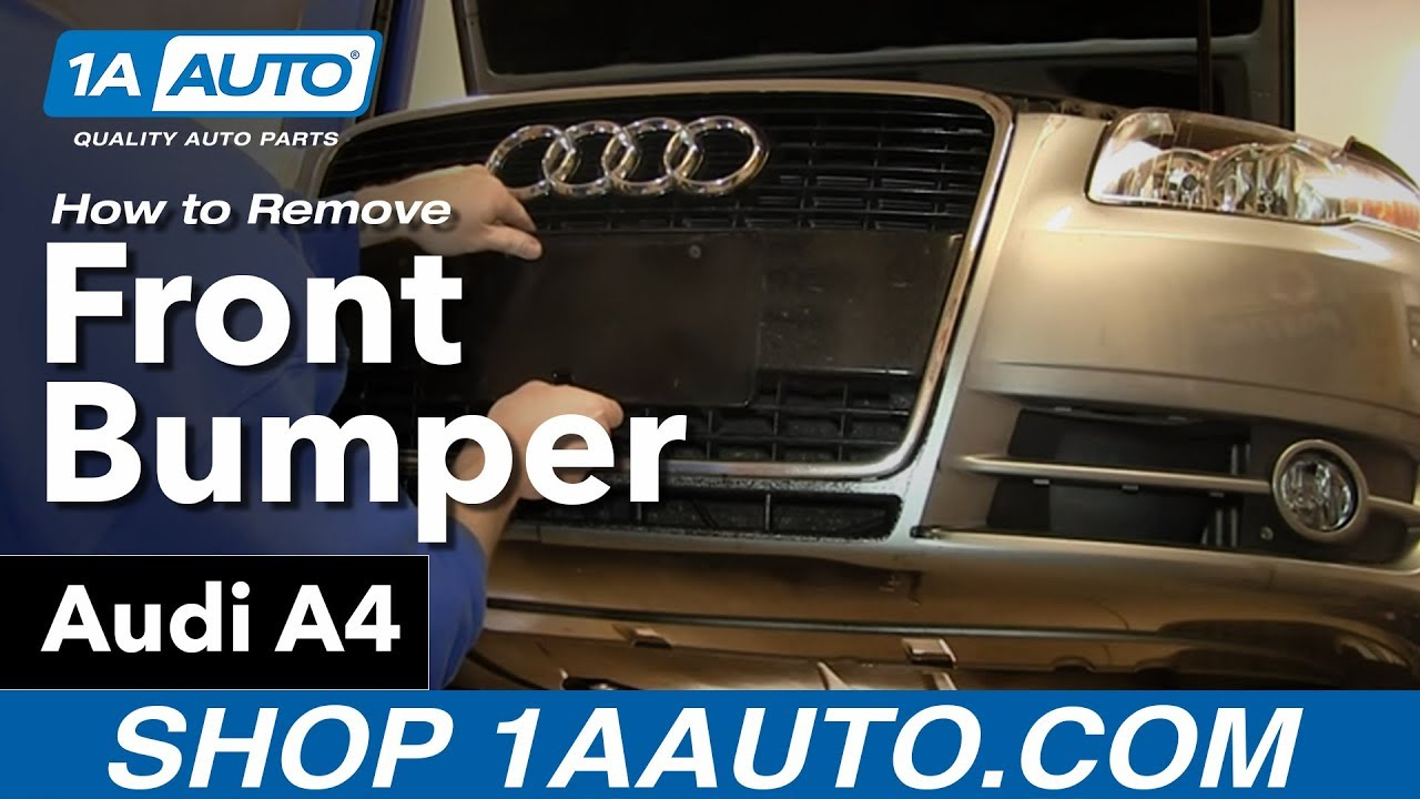 how to remove front bumper cover 04 09 audi a4 youtube diagram go down to the front bumper section and click on the diagram [ 1280 x 720 Pixel ]