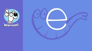 Draw The Letter e Into An Elephant - Wordtoon Lettertoon e