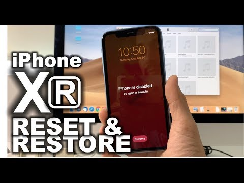 Factory reset iphone xr with itunes